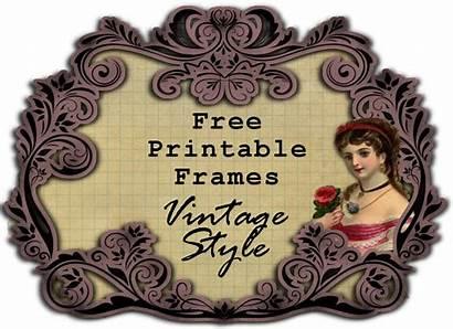 Printable Frames Retro Antique Scraps Frame Printables