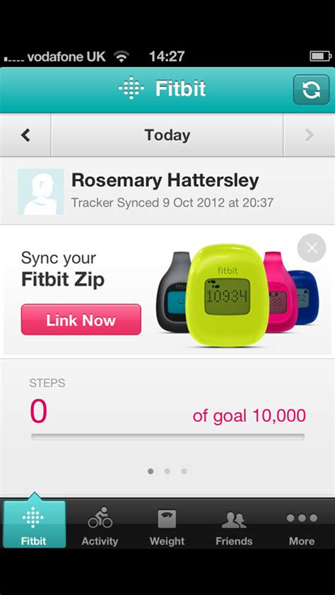 sync fitbit with iphone fitbit zip review macworld uk