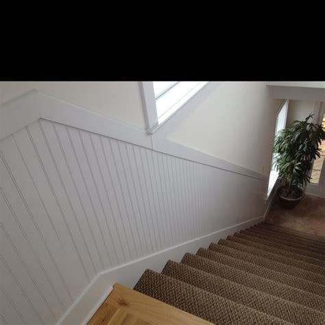 livingroom paint ideas beadboard stairwell house finished basement