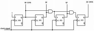 16  The 4 Bit Synchronous Up Counter Circuit Constructed