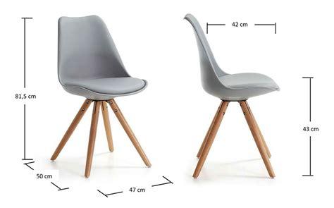 chaise hauteur assise 60 cm chaise achat chaise coque design grise pieds bois