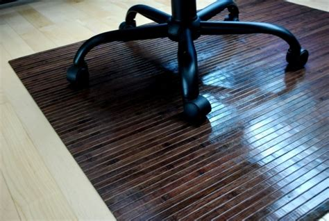 rectangle fiber large office chair mat for wood