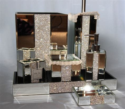 bronze bathroom mirror accessories rhinestone bathroom mirror