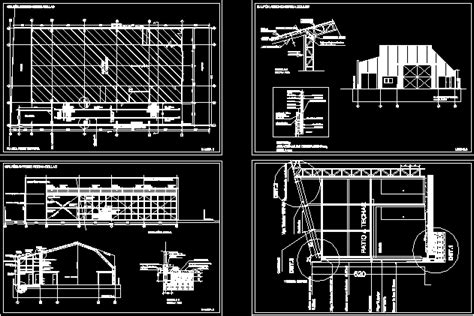 steel structure warehouse  autocad cad