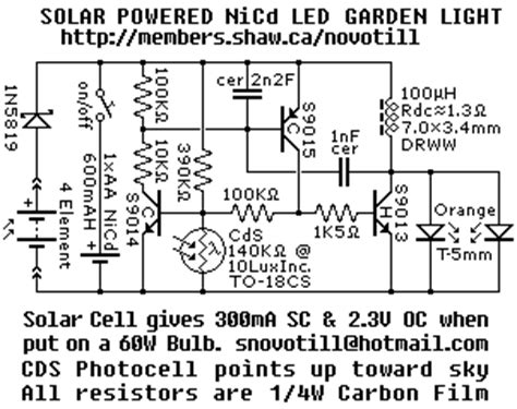 solar powered led garden light cell charges single nicd