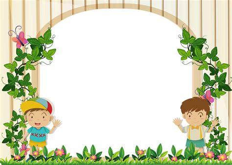 border design  boys   garden