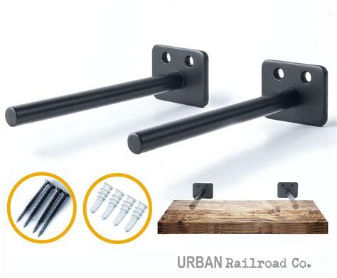 Floating Cabinet Brackets by Solid Steel Floating Shelf Brackets 6 Quot Steel Rod With 1