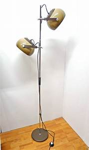 retro floor lamp with two plastic adjustable spotlights With adjustable spotlight floor lamp