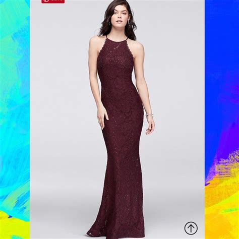 wine colored prom dresses betsy adam dresses high neck wine colored lace prom
