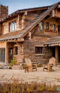 wooden cabin house hearts montana style estate