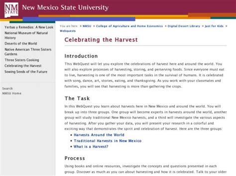 Celebrating The Harvest Lesson Plan For 4th