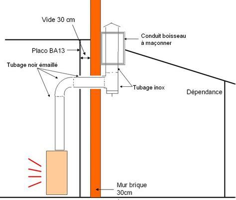 schema installation tubage poele a bois