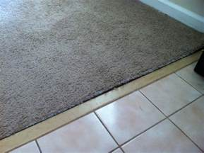 carpet to tile transition damage