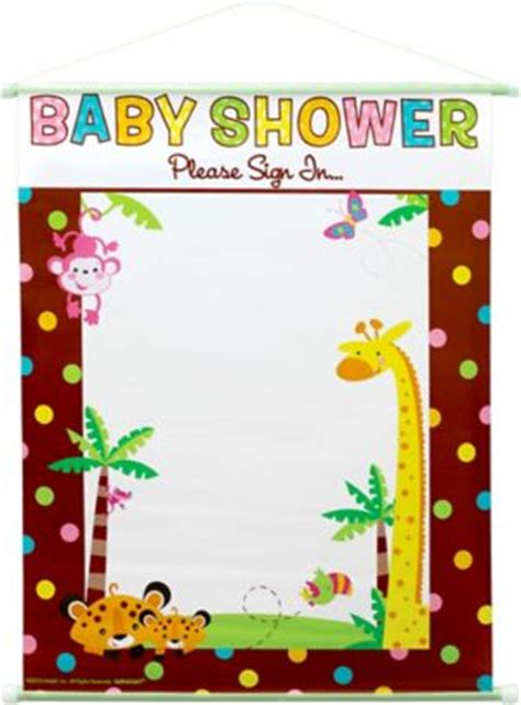 fisher price jungle baby shower sign  sheet