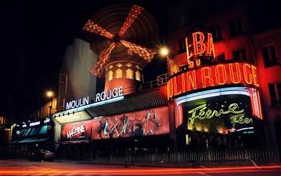 Rouge Moulin Paris Cabaret Wallpapers Neon Night