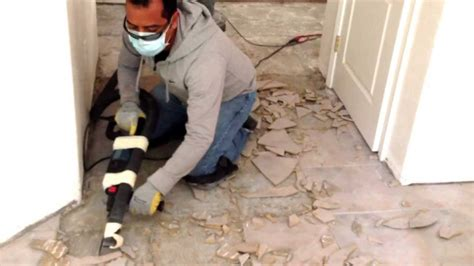 easy   remove ceramic tile  concrete youtube