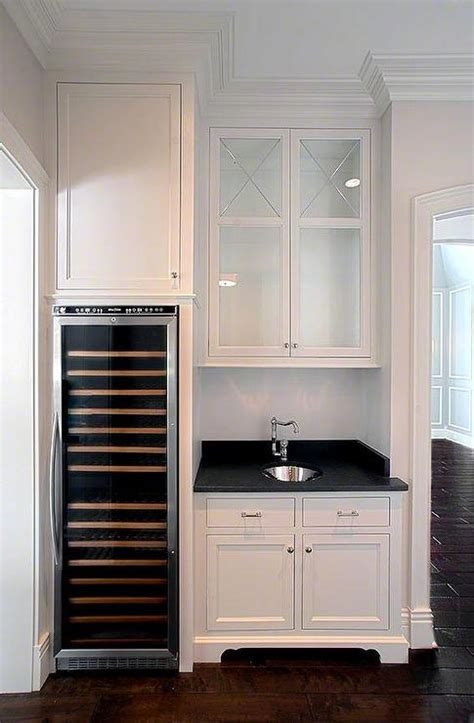 butler pantry  integrated wine cooler transitional