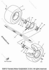 Yamaha Atv 2008 Oem Parts Diagram For Rear Wheel