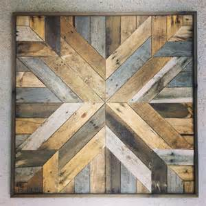 Reclaimed wood wall art barn