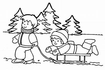 Winter Coloring Pages Printable Season