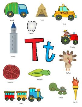words with letter t letter t activity packet by teach speech teachers pay 25759 | original 930116 1