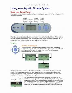 Aquatic Fitness System Owners Manual Guide