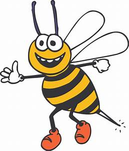 Happy Bee Clip Art at Clker.com - vector clip art online ...