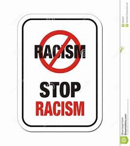 Stop racism sign stock vector. Image of racial, recism ...