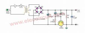 Simple 3 3v Power Supply Circuit   1a For Digital