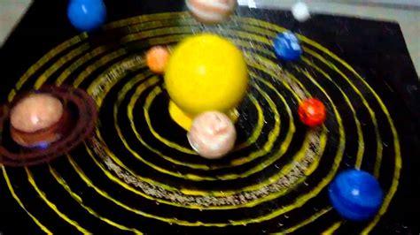 maqueta sistema planetario solar con movimiento colegio