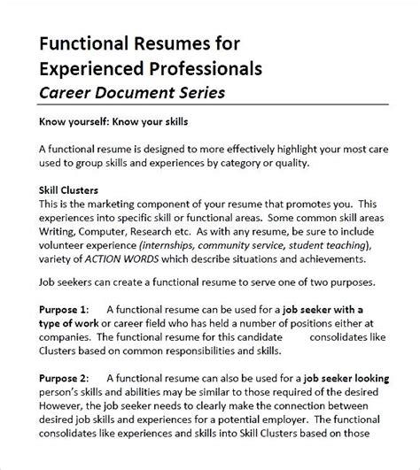 functional pdf free sles exles format resume