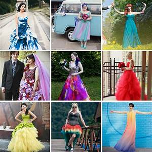 60 Astonishing Coloured Wedding Dresses Rock N Roll Bride