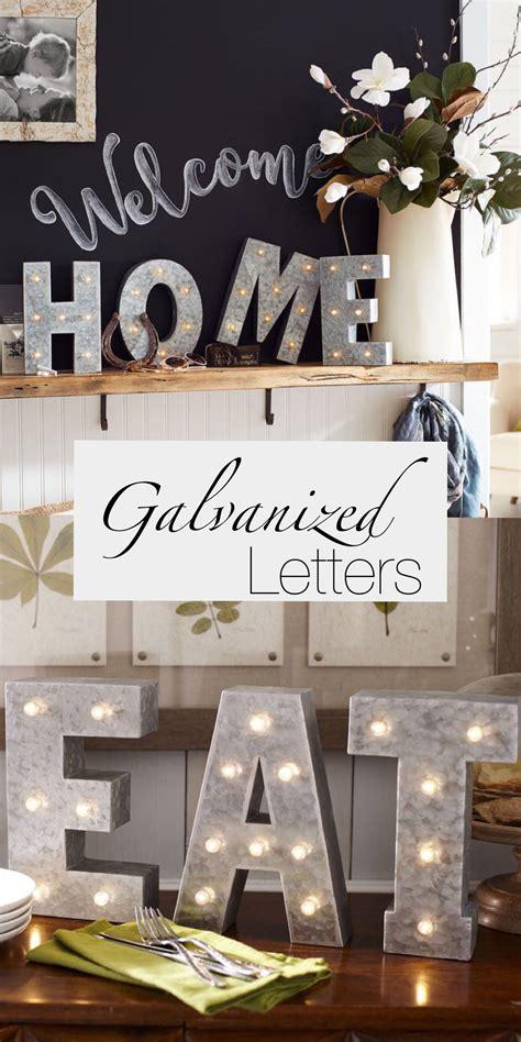 led galvanized metal monogrammed letters farmhouse decor rustic metal decor farmhouse kitchen