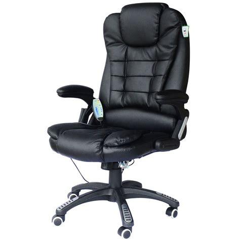 chaise en cuir noir fauteuil de bureau cuir noir massant et chauffant bc elec com