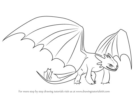 learn   draw night fury    train  dragon   train  dragon step