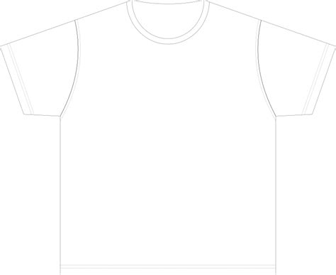 Tshirt Template Png by Clipart Xl Size Blank T Shirt Template
