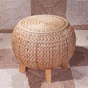 Gros Pouf Rond : wonderland main pastorale rotin vigne bambou tabouret robuste pouf meubles de maison salon ~ Teatrodelosmanantiales.com Idées de Décoration