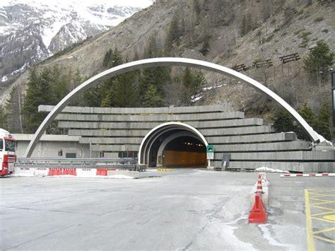 mont blanc tunnel chamonix mont blanc courmayeur 1965 structurae