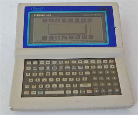 hp 100 lx palmtop computer 1 mb ram white entelechy