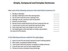 writing images writing complex sentences