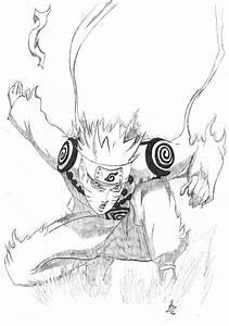 Naruto Nine Tail mode by B-Operationz on DeviantArt