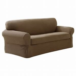 Stretch pixel sofa slipcover 2 piece maytex ebay for Slipcovers for 2 piece sectional