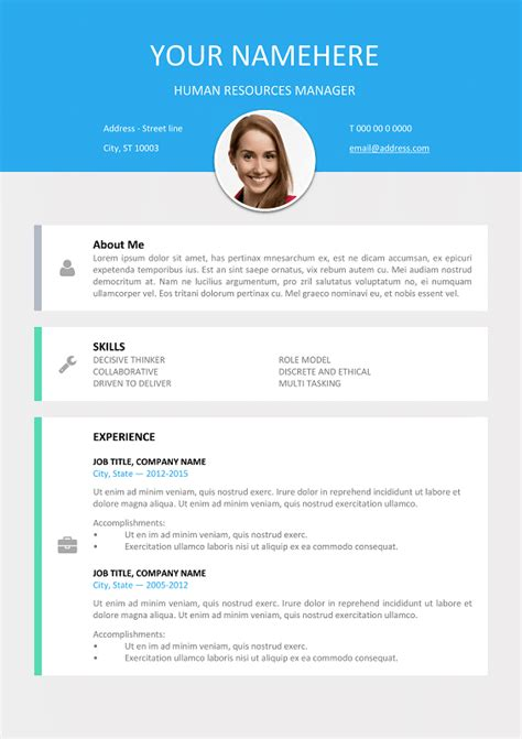 Modern Cv Format by Le Marais Free Modern Resume Template For Word Docx