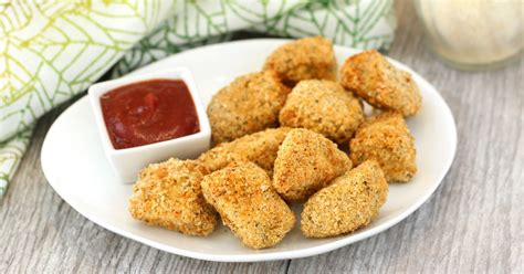 parm crusted chicken nuggets   healthy air fryer