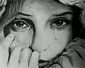 Crying Face Sketches Sad Girl Crying Drawing Face Sad ...