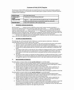 statement of work template 12 free pdf word excel With statement of works template