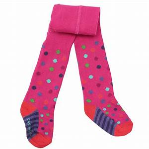 Catimini Clothing Baby Girls Fuchsia Pink Spotted Tights - Elfin
