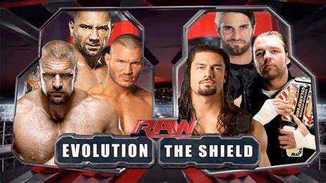WWE RAW 2014 - The Shield vs Evolution - Full Match HD ...