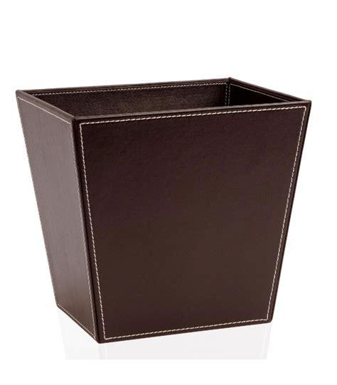 papier bureau corbeille à papier de bureau en cuir marron wadiga com