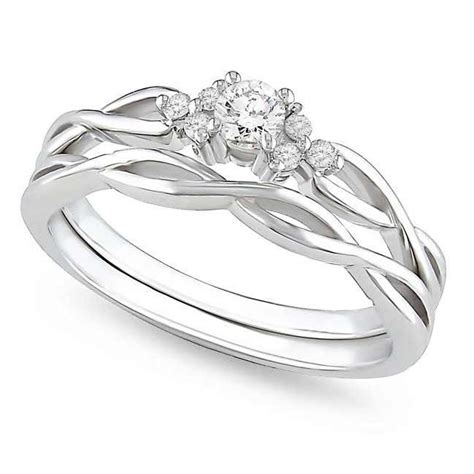 affordable infinity wedding ring in 10k white gold jeenjewels